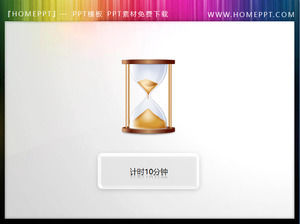 Hourglass Icon Slide Timer material