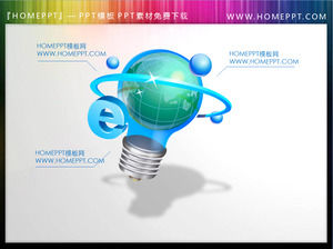 Illustration of a bulb with a sense of technology PowerPoint material