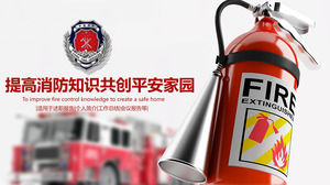 Improve fire protection knowledge and create a safe home PPT template