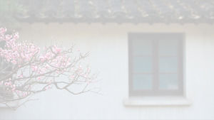 Jiangnan poetry theme green small fresh and beautiful Chinese style ppt template