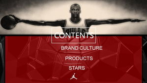 Jordan basketball sports PPT template download
