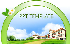 Korean school ppt template