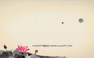 Lotus background of the classic Chinese wind slide background image