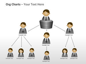 Male and female cartoon avatar PPT organization chart