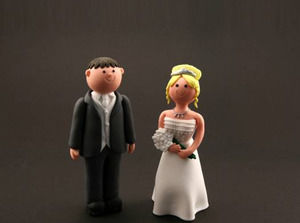 Marriage of Little Characters in Clay powerpoint template