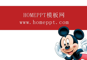 Mickey Mouse Background Cartoon PPT Template Download