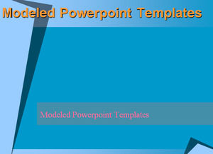 Modeled Powerpoint Templates