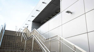 Modern business building PPT background picture