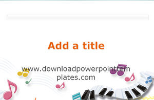 Music notation powerpoint template