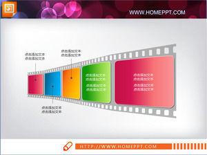 Nice film background slides flow chart template download