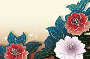 Peony chinese style ppt template