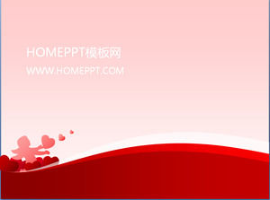 Pink love background love PPT template download