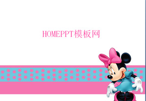 Pink Mickey Mouse Background Cartoon Slideshow Template Download