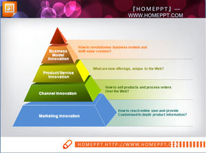 Pretty pyramid PPT chart template