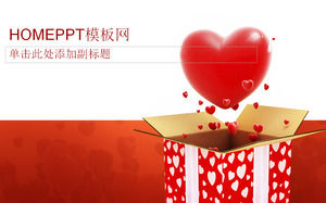 Pretty Valentine 's Day PPT template download