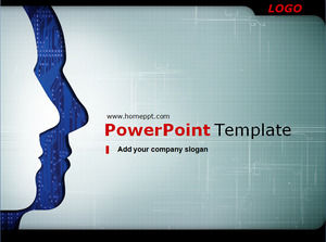 Professional it technology PowerPoint template download