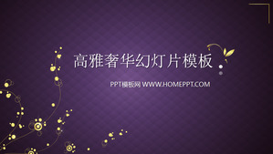 Purple and elegant luxury jewelry for PowerPoint download