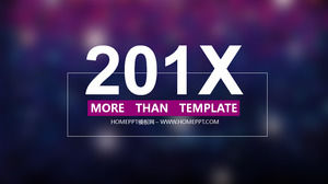 Purple Colorful Transparent background with simple PPT template