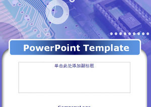 Purple design template power point