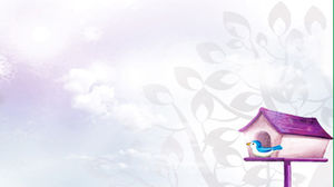 Purple Elegant Cartoon PPT background picture