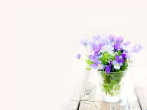 Purple flower plant PPT background picture