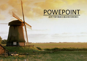 Ranch windmill clean energy PPT template