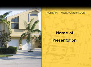 Real estate company villa sales PPT template download
