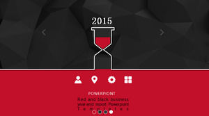Red and black business year-end report Powerpoint Templates
