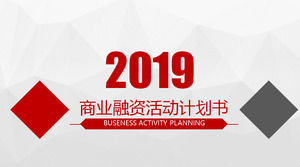 Red Gray Polygon Background Business Financing Plan PPT Template