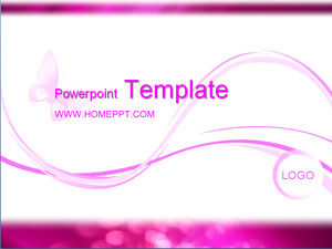 Romantic Butterfly Background Pink Love PPT Template
