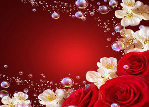 Romantic rose love background ppt