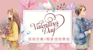 Romantic Valentine's Day Planning PPT Template