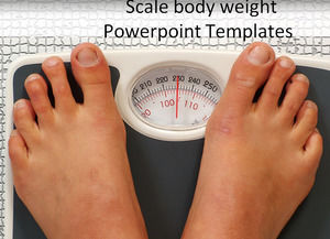 Scale body weight Powerpoint Templates
