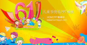 Sea Paradise Background of the 61 Children's Day PPT template