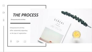 Simple and exquisite graphic layout PPT template