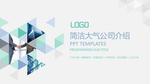 Simple creative triangle company introduction PPT template