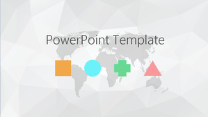 Simple gray polygon background Elegant PPT template, elegant PPT template download