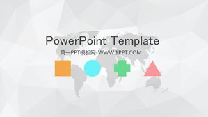 Simple gray polygon background Elegant PPT template