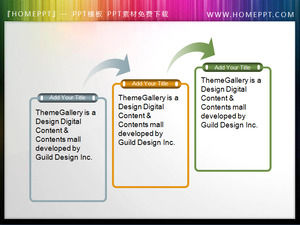 Simple lines PPT text box material