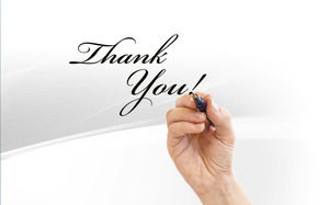 Simple thanks for watching the slide background picture download