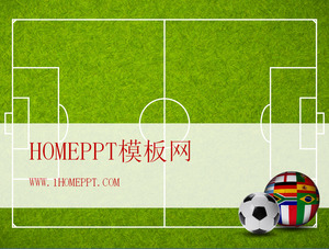 Soccer Background World Cup PPT Template Download