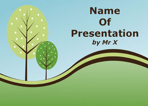 Soothing Natural Landscape powerpoint template