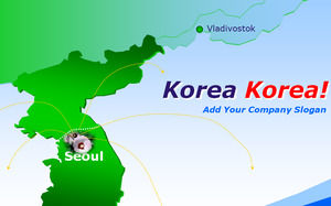 South korea map powerpoint templates free download south korea map toneelgroepblik Images