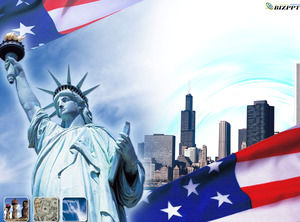 Statue of Liberty - USA Reiseindustrie PPT-Vorlage