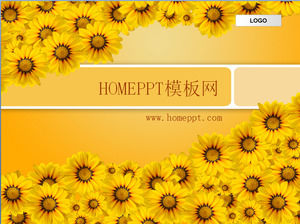 Sunflower background PPT template download