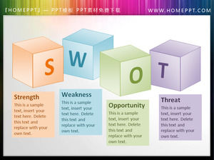 SWOT background 3D box slideshow text box material