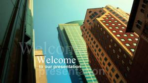 Tall European and American style business PPT template