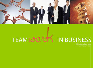 Team promotion business PPT template download