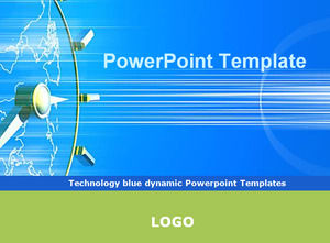 Technology Blue Dynamic Powerpoint Templates Powerpoint Templates Free Download