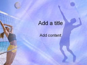 The beauty of beach volleyball - Sports PPT template
